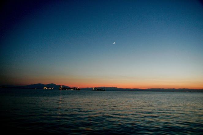 Abendszene in Thessaloniki