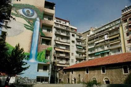 Street Art an den Neubauten in Thessaloniki