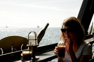Kurze Fahrt durch die Bucht in Thessaloniki