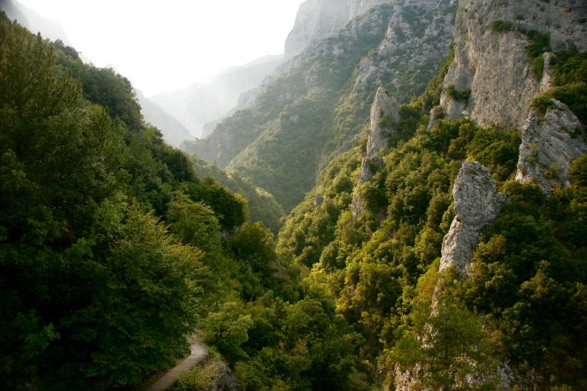Berge im Olympus Nationalpark