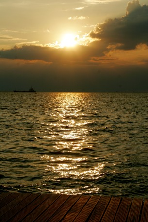 Sonnenuntergang in Thessaloniki