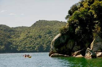 Auf dem Boot im Abel Tasman