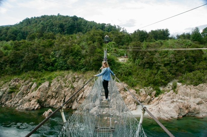 Längste Hängebrücke Neuseelands - Buller River