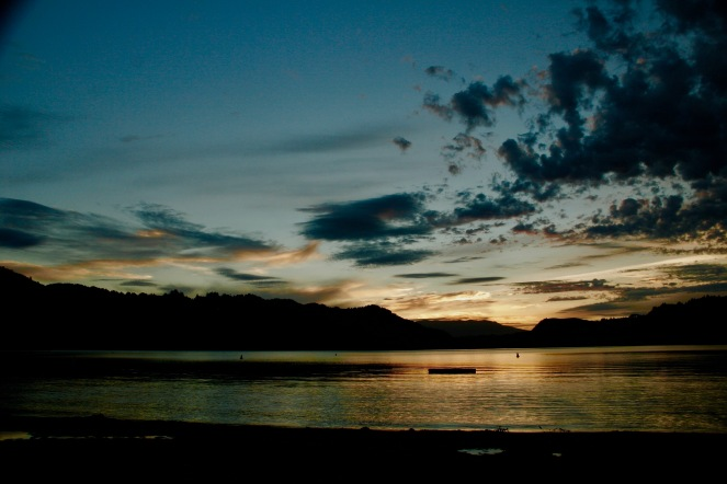 Sonnenuntergang in Rotorua