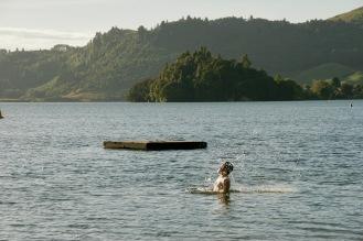 Erster Campingplatz am See in Rotorua