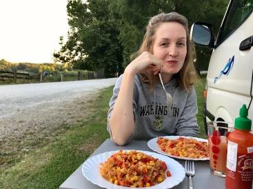 Abendessen inmitten der Natur in Neuseeland