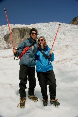 Glücklich auf dem Franz Josef Gletscher