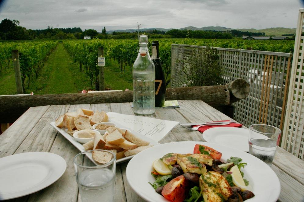 Martinborough - Essen im Margrain Vineyard