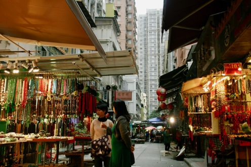 Kleiner Markt in Hong Kong