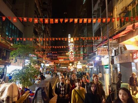 Belebte Straßen Hong Kongs