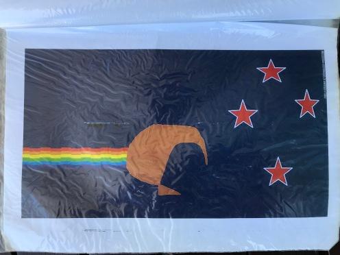 Regenbogenpupskiwiflaggenidee