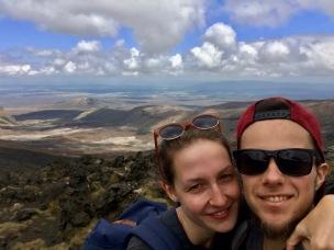 Am höchsten Punkt des Tongariro Crossings angekommen