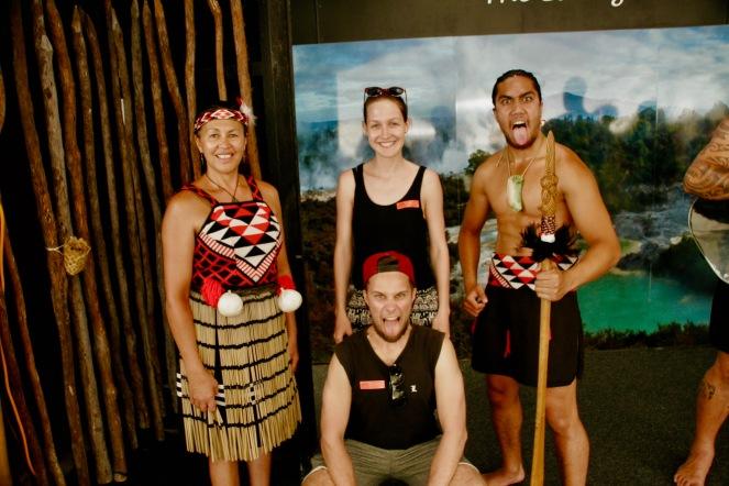 Gruppenfoto mit den Maoris