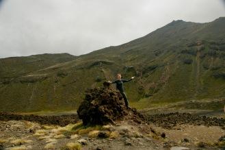 Erster steiler Teil beim Tongariro Crossing geschafft