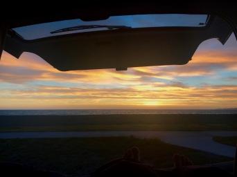 Sonnenaufgang vom Bett aus beobachten in Napier