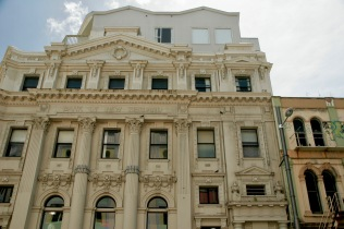 Architektur in der Cuba Street in Wellington