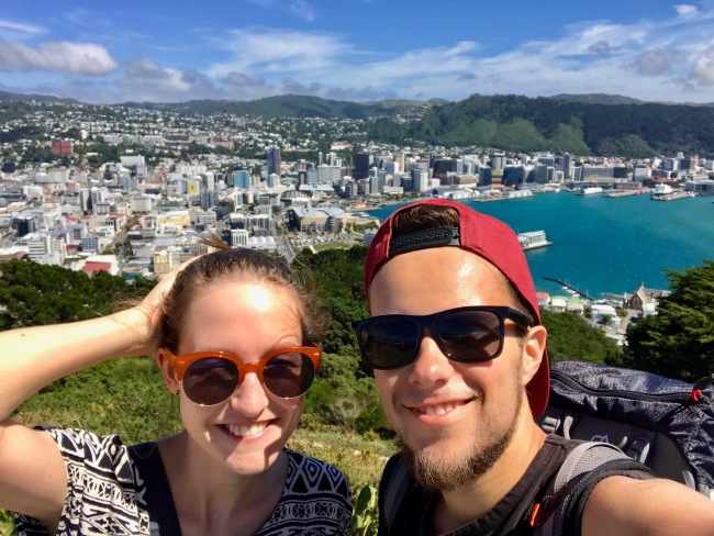 Auf dem Victoria Peak in Wellington