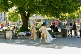 Cathedral Square im beschaulichen Christchurch