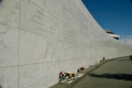 Erinnerung an die Opfer des Erdbebens