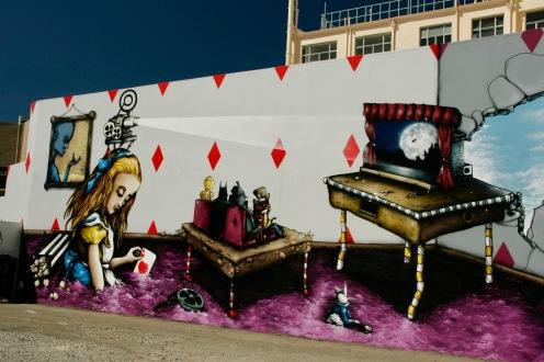 Street Art wohin das Auge reicht in Christchurch