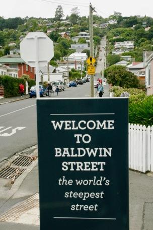 Baldwin Street - steilste Straße der Welt