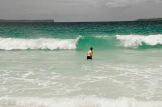 Türkisblaues Meer am Hyams Beach