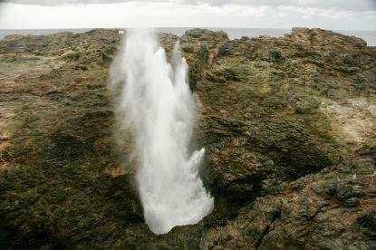 Riesiges Blow Hole in Kiama