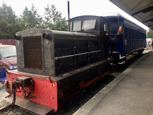Camping neben den Eisenbahnen in Lumsdon
