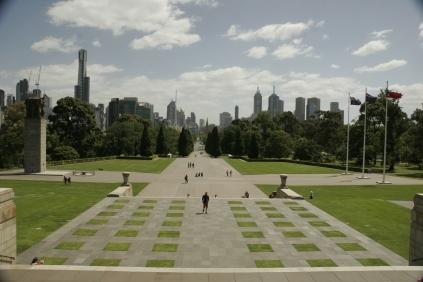 Blick über Melbourne