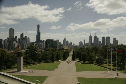 Blick vom Shrine of Remembrance
