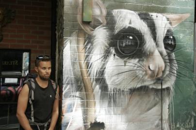 Street Art in der Hosier Lane in Melbourne