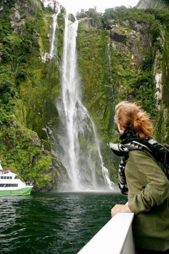 Wasserfall im Milford Sound
