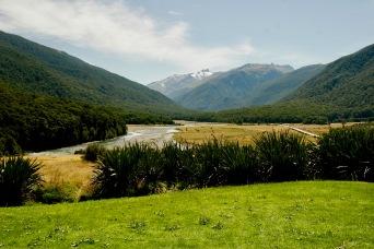 Landschaft auf dem Weg nach Wanaka