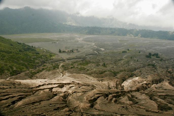 Aussicht auf das Lavafeld beim Mount Bromo