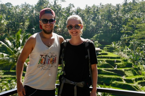 Wir bei den Tegallalang Reisterrassen