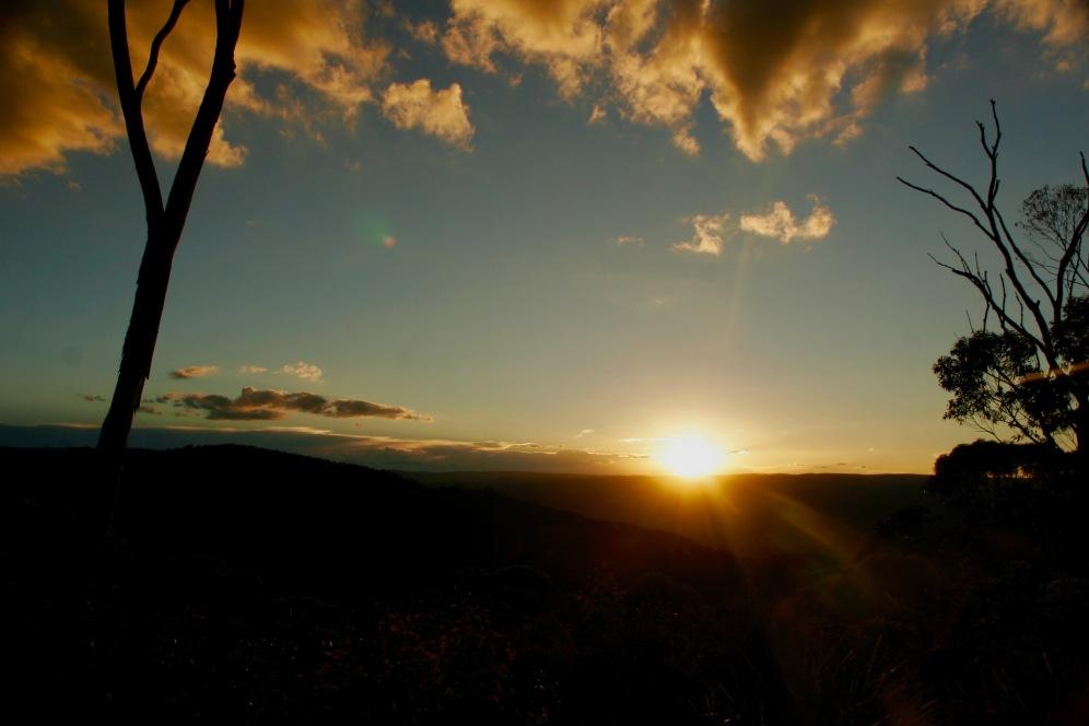 Sonnenuntergang über den Blue Mountains