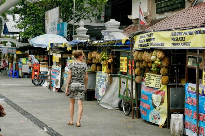 Durianstände in Yogjakarta