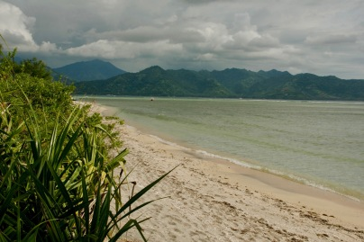 Einsamer Strand auf Gili Air