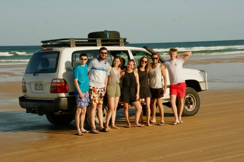 Fraser Island Gruppe am Strand