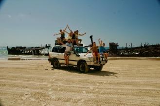 Fraser Island Gruppe vor'm Moheno Schiffswrack