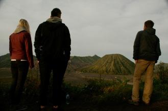 Genießen beim Mount Bromo Sonnenaufgang