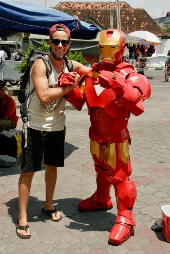 Ironman in Yogjakarte getroffen