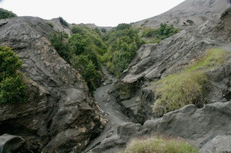 Lavafluss beim Mount Bromo