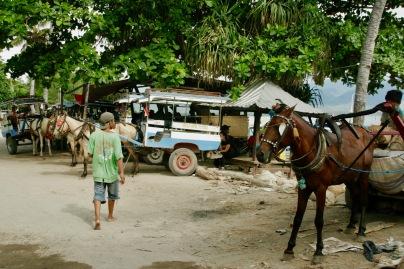 Pferdekutschen auf Gili Air