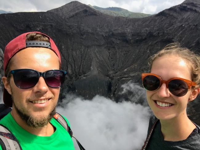 Selfie am Mount Bromo
