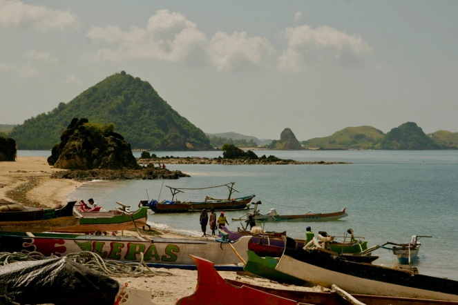 Strand in Kuta, Lombok