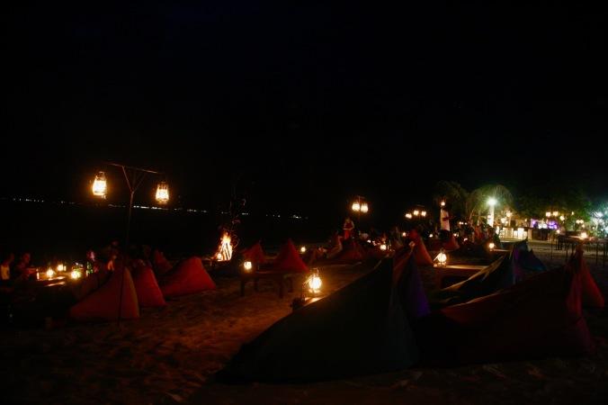 Strandbar auf Gili Air