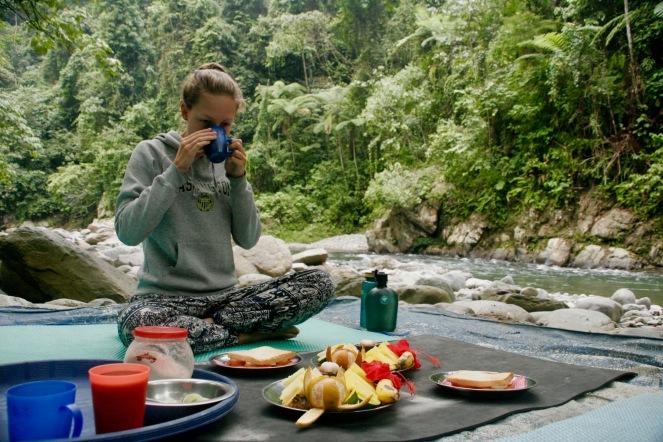 Vitaminreiches Frühstück im Dschungel