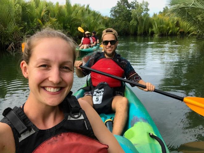 10km durch den Abatan River kayaken