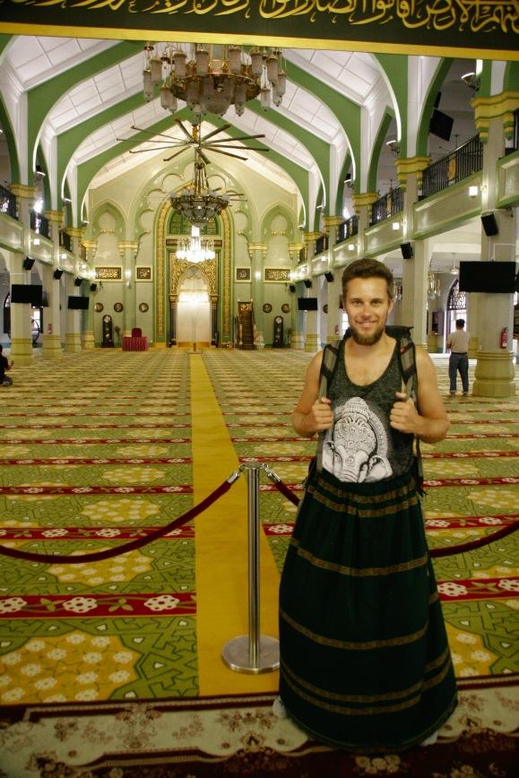 Alex in der Sultan Moschee